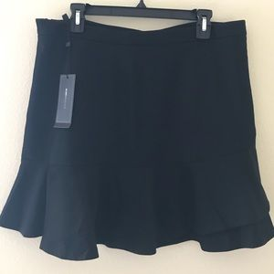 BCBG Black Flounced Skirt